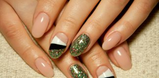Nageldesign Glitzer Glitter nails