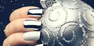 24 Nageldesign Metallic Silber Glänzend
